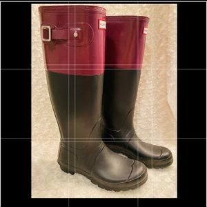 Hunter Women Colorblock Knee High Rain Boot Sz 7/8